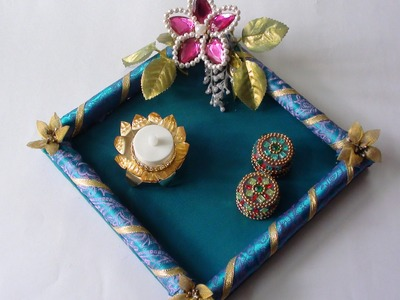 DIY  simple Rakhi Platter