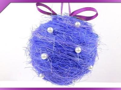 DIY Sisal Christmas ball (ENG Subtitles) - Speed up #167