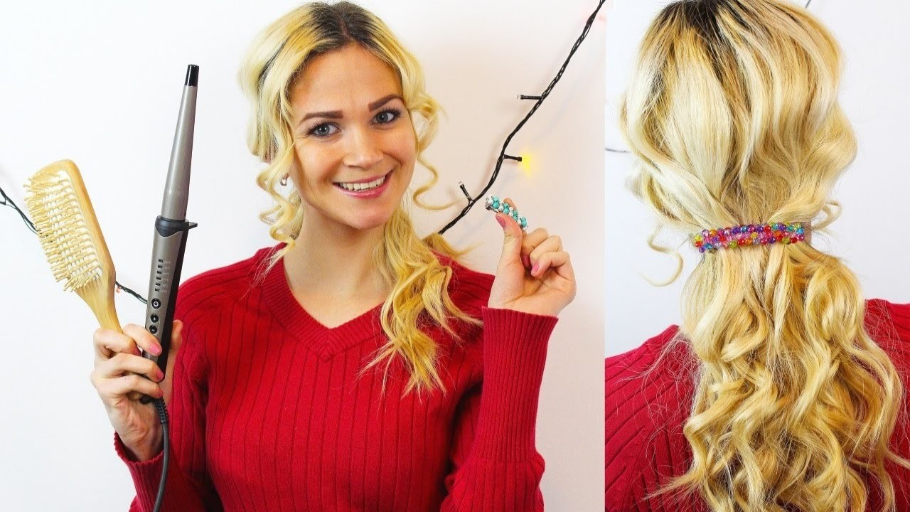Diy Soft Romantic Curls Hair Tutorial + DIY Hair Jewelry From Beads