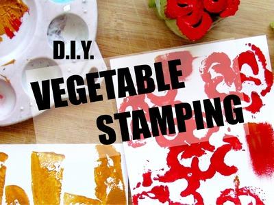DIY Vegetable Stamping (Decor Idea!) | NANCY MAC