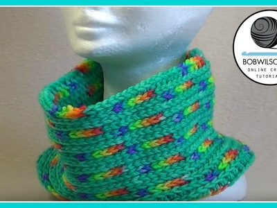 Easy Reversible Cowl Crochet Tutorial