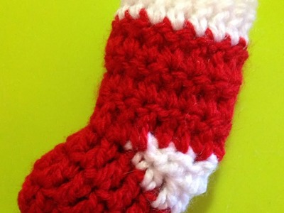 How To Crochet A Mini Sock Ornament For Christmas - DIY Crafts Tutorial - Guidecentral