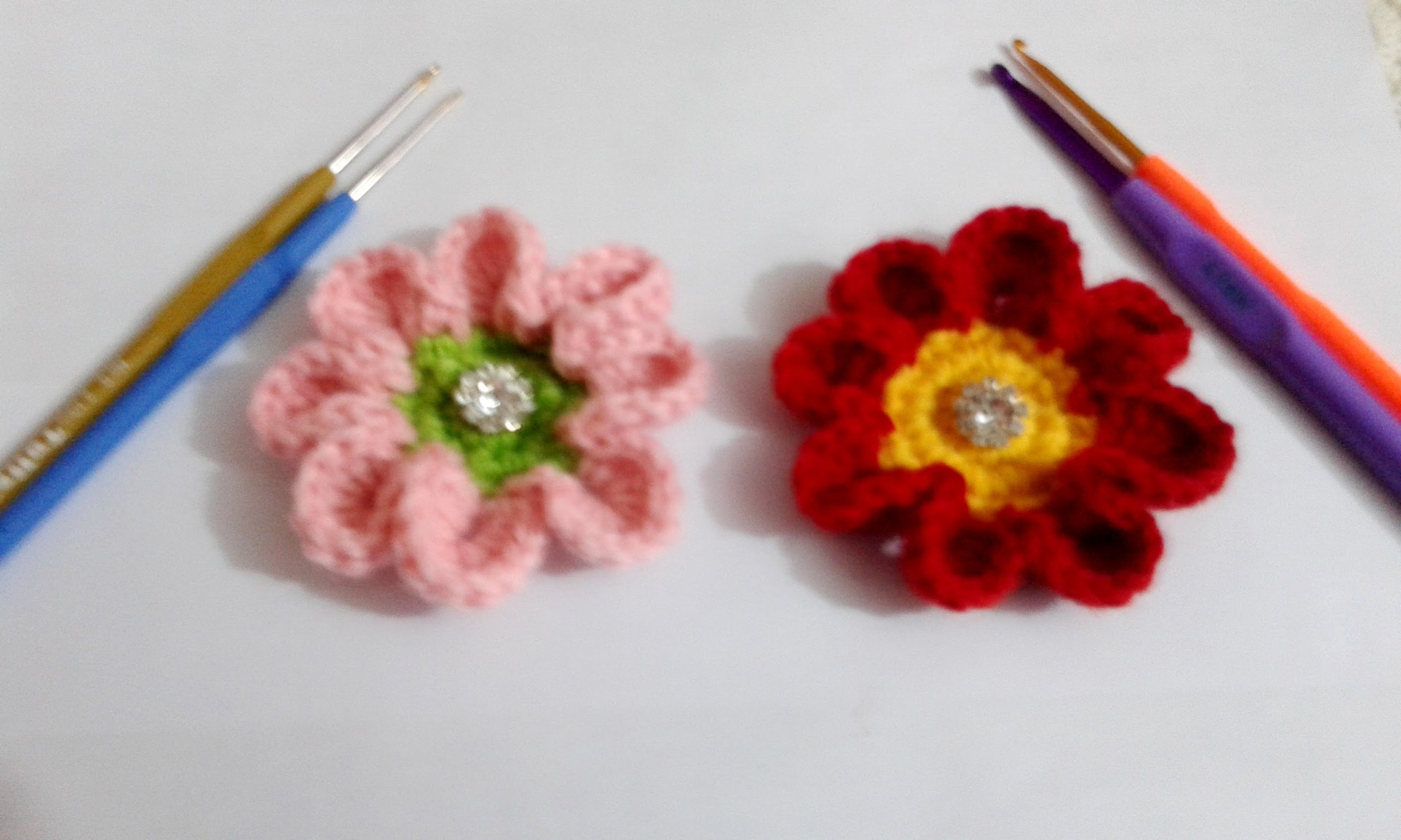 How to crochet flower 8 petal. Video Tutorial