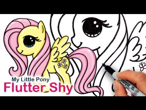 How to Draw My Little Pony FlutterShy Cute Step by Step