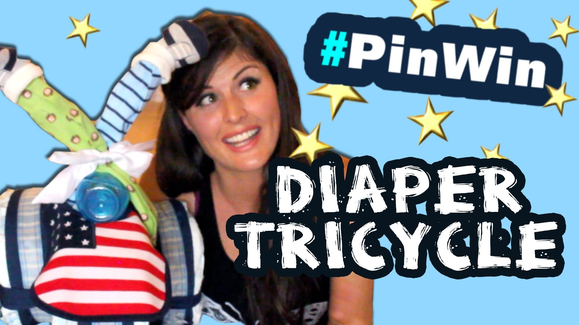 How to Make a Diaper Tricycle Baby Shower Gift #PinWin!