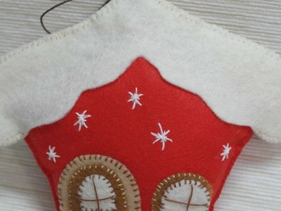 How To Make A Felt Christmas Sweet House - DIY Crafts Tutorial - Guidecentral