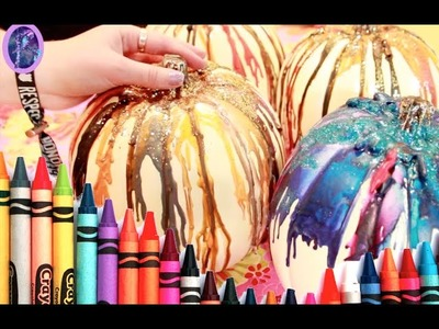 How to Make a MELTED CRAYON ART PUMPKIN (Parrot's Fall Pinterest Palooza) - @dramaticparrot