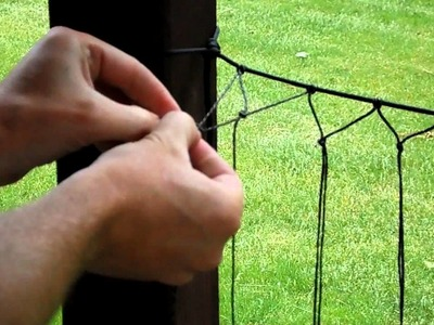 How to make a net for bushcraft uses.