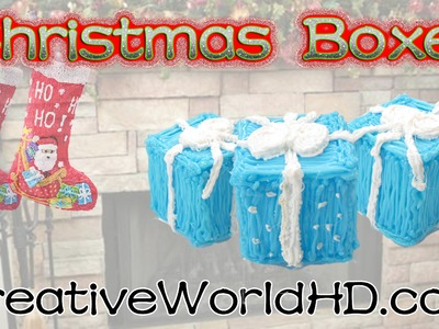 How to Make Christmas Holiday Present Box 3D. 3D Pen Creations by Creative World