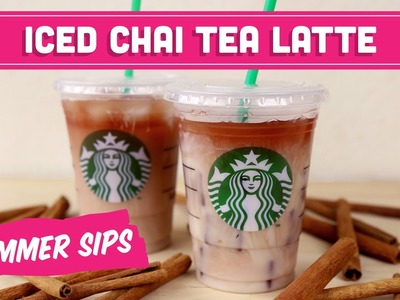 Iced Chai Tea Latte! (DIY Starbucks) Summer Sips in Sixty Seconds - Mind Over Munch