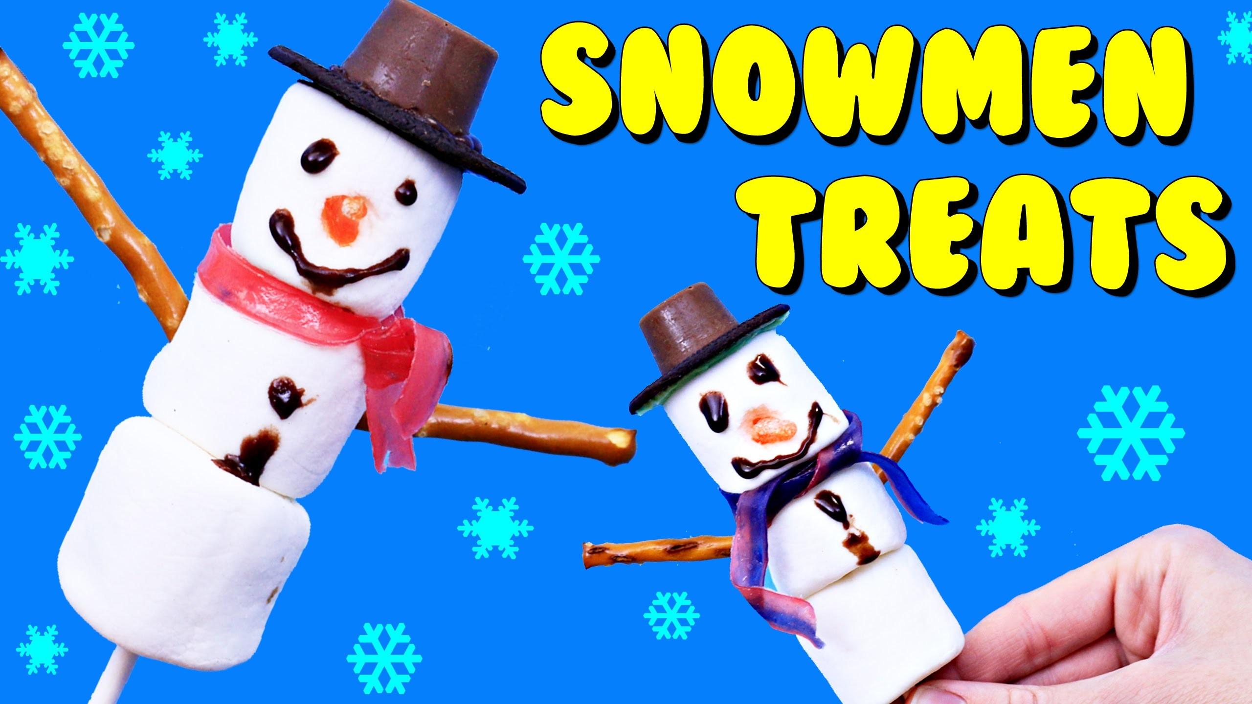MARSHMALLOW SNOWMEN Christmas Treats Dessert DIY EASY Kid Cookies & Surprise Toys Ornaments
