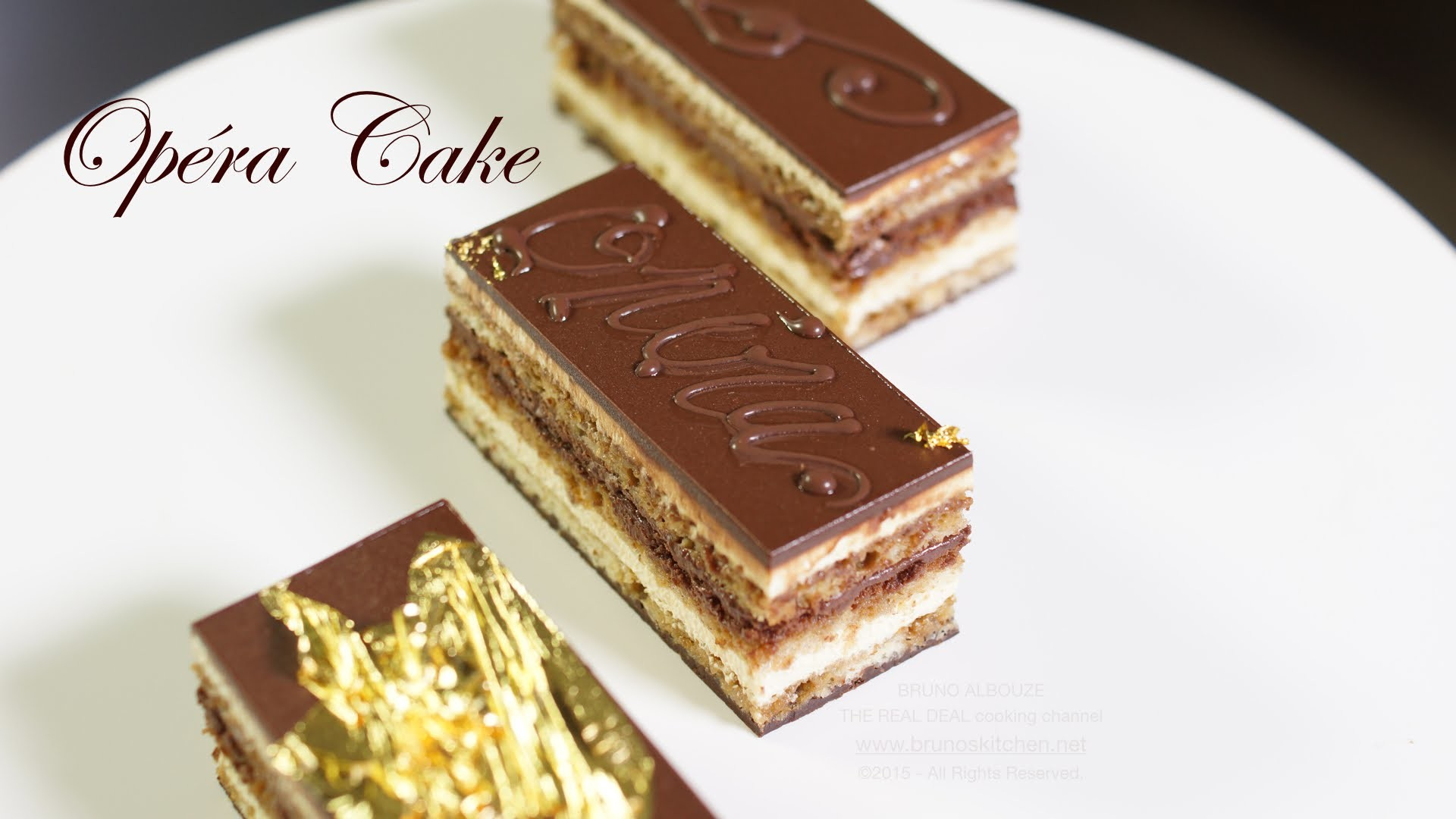 Opera Cake Recipe – Bruno Albouze – THE REAL DEAL