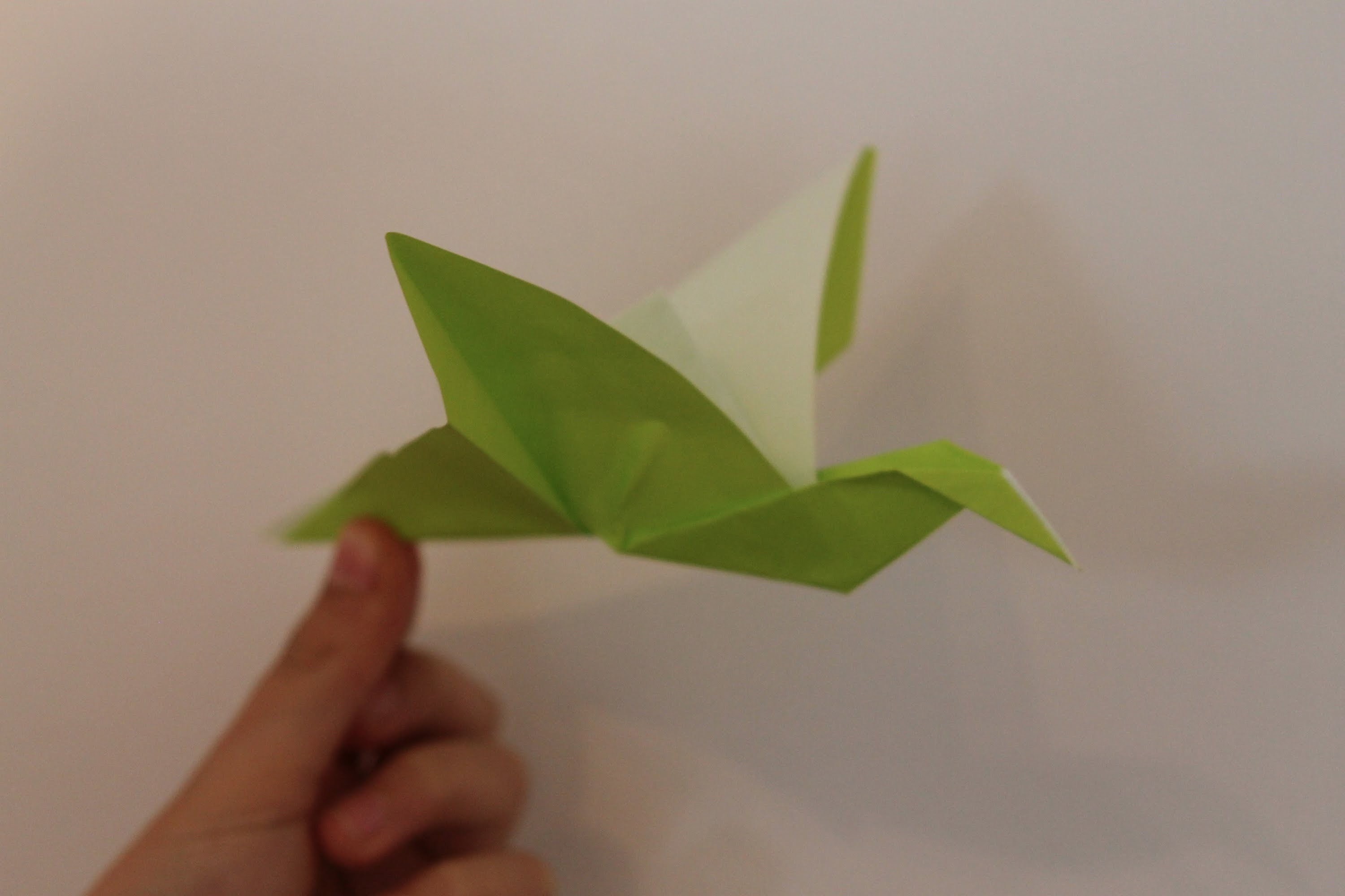 Origami flapping bird by Paul Jackson