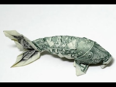 [Origami] How to fold koi fish dollar by Won Park