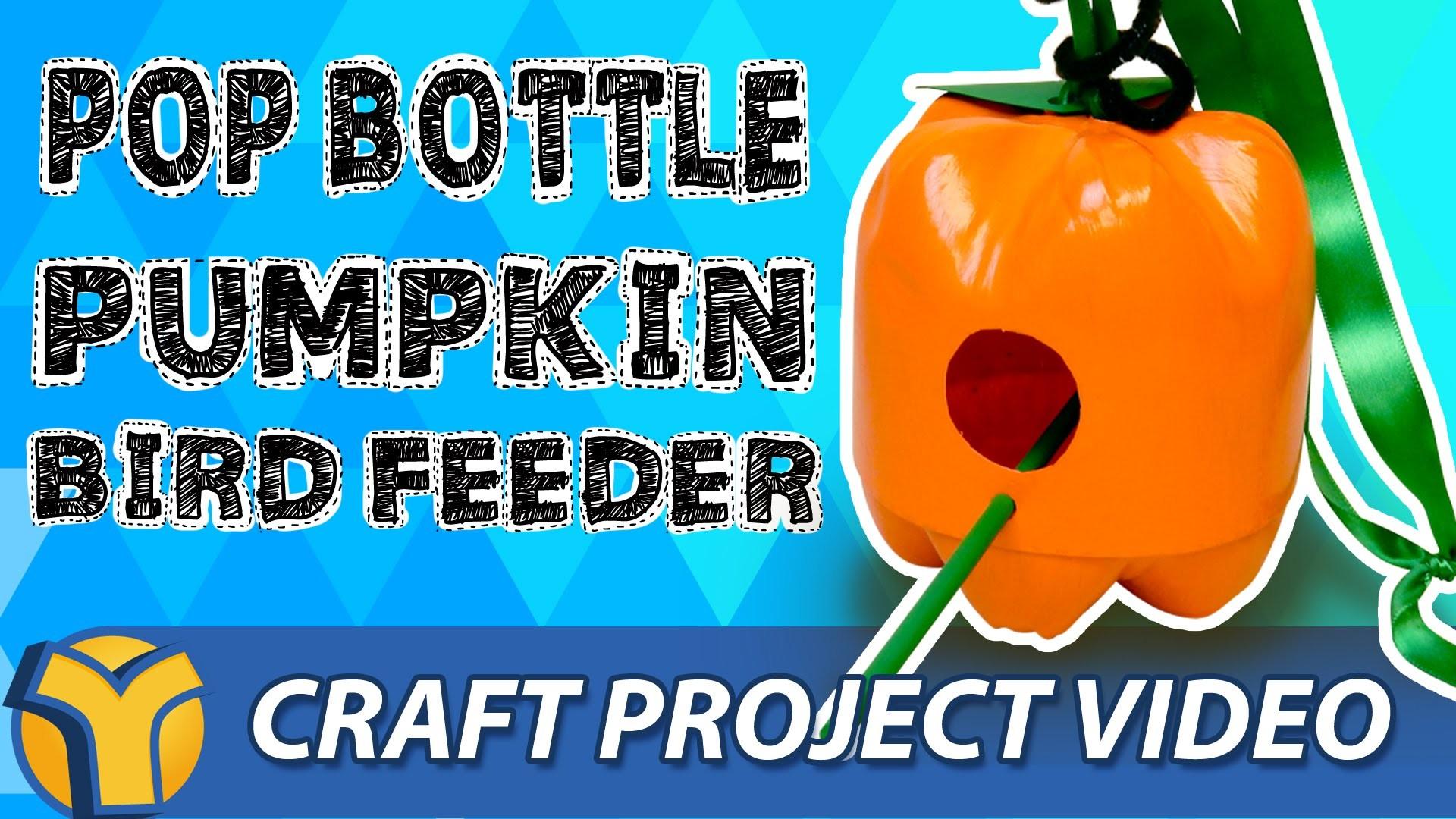 Pop Bottle Pumpkin Feeder Craft Project