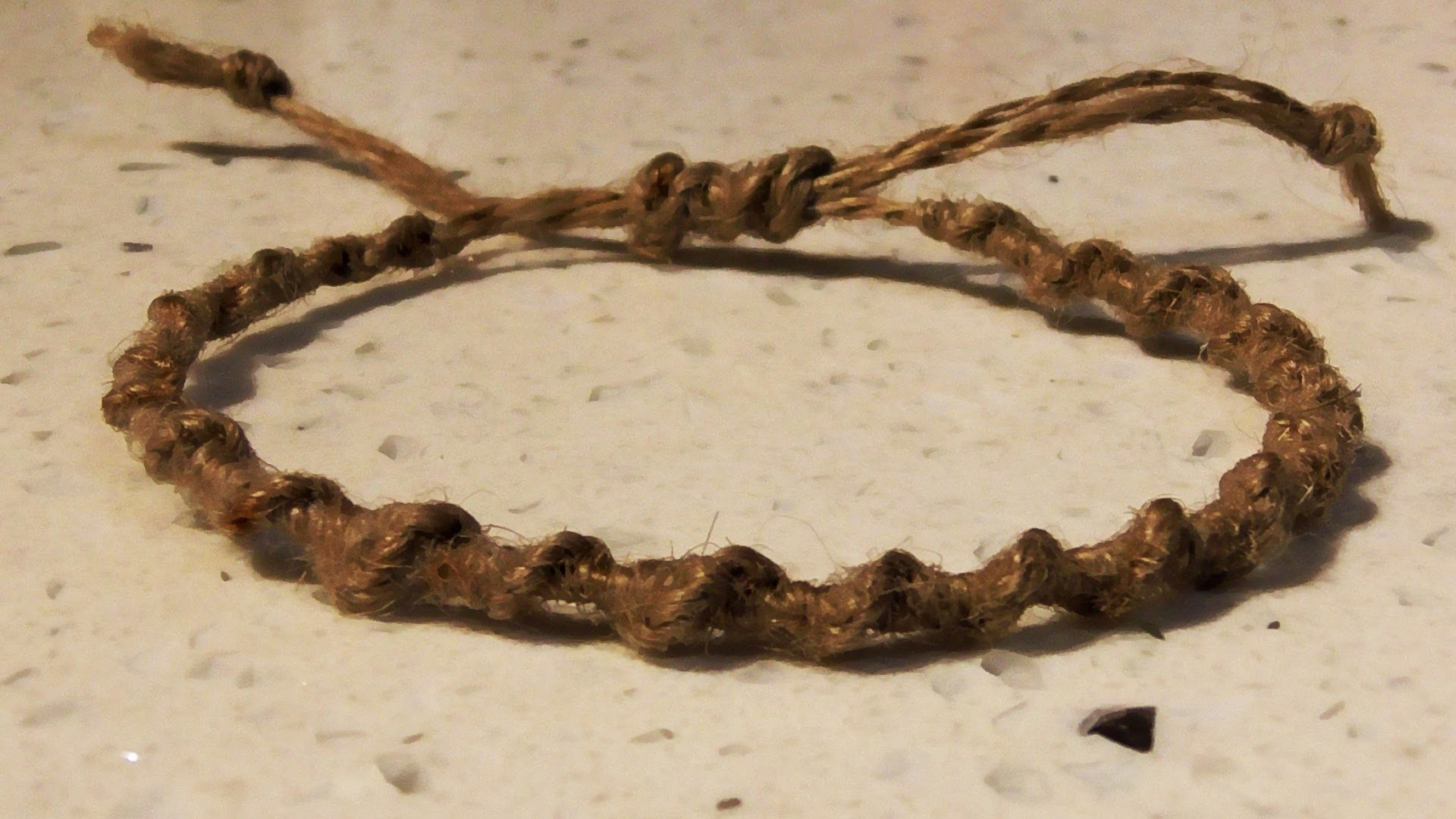 Retro Macrame Spiral Hemp Bracelet With Adjustable Tie Off - How To