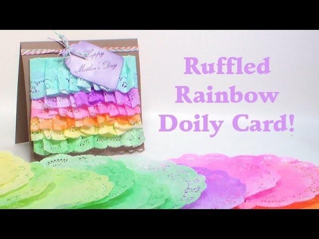 Ruffled doily card