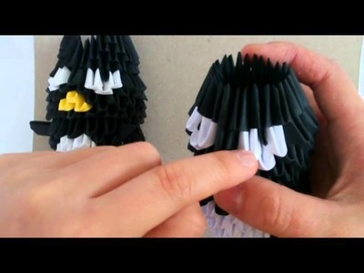 3D origami Badtzmaru part 2