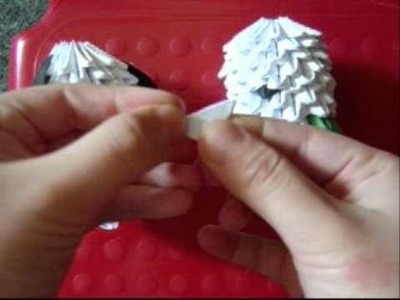 3D origami pochacco (cartoon dog)