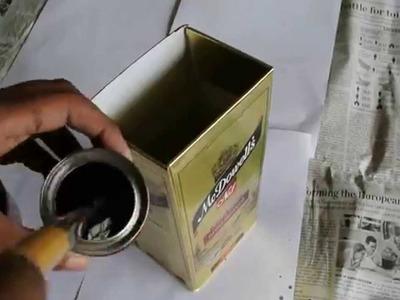 Best of waste- How to reuse alcohol boxes (flower vase.pen holder)