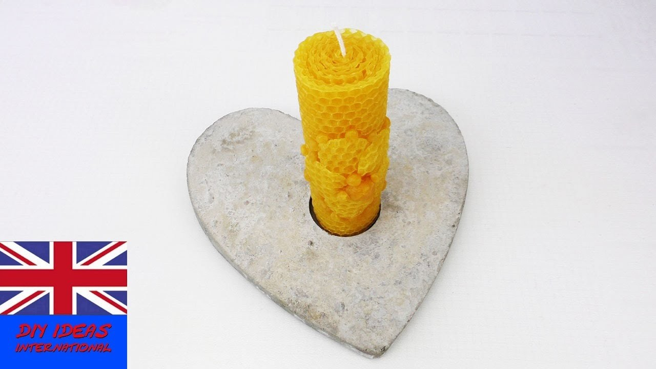 Concrete Heart Candle Holder – Gift or decoration – How to DIY in English demo gift ideas