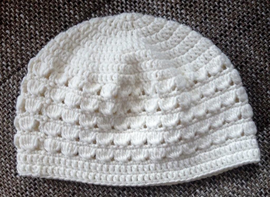 Crochet hat for girls 50 - 52cm - Tutorial shell pattern by BerlinCrochet
