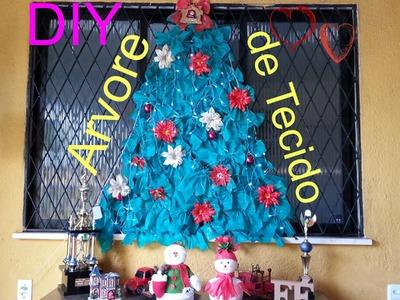 DIY -  Arvore de Natal de TNT