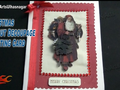 DIY Christmas Card Die-Cut 3D Decoupage    How To Make   JK Arts 824