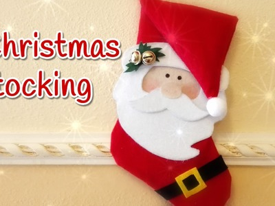 DIY Christmas crafts: CHRISTMAS STOCKING no sew - Innova Crafts