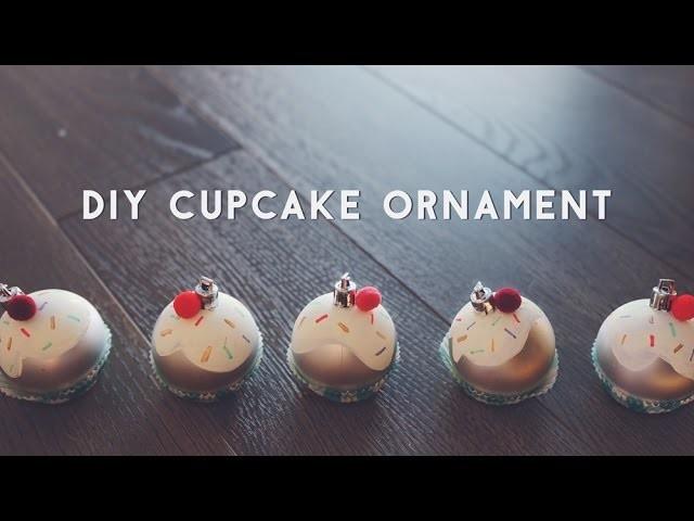 ✂ DIY Cupcake Ornament