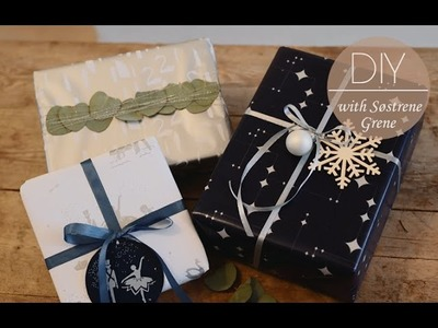 DIY: Gift wrapping ideas by Søstrene Grene