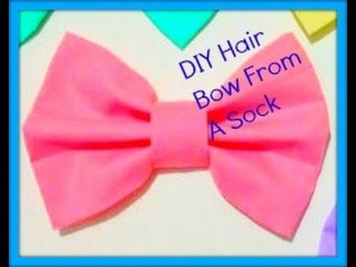DIY Hair Bow from a sock ( no sewing required!)