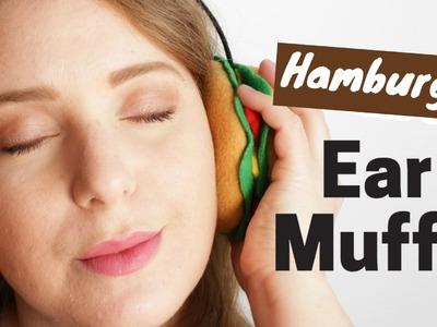 DIY Hamburger Earmuffs - No Sewing - 2 Cats & 1 Doll