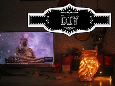 DIY: Luminaria de palitos de picolé. Nivel Fácil