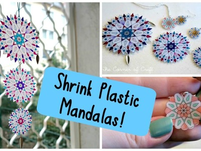 DIY Mandala Shrink Plastic: Sun Catchers and Jewellery!. Room Decor. ¦ The Corner of Craft