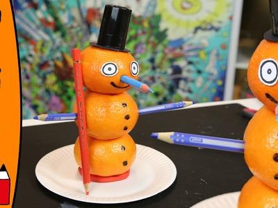 DIY Mandarin Snowman | Craft Ideas With Øistein