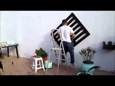 DIY - Palete com vasos