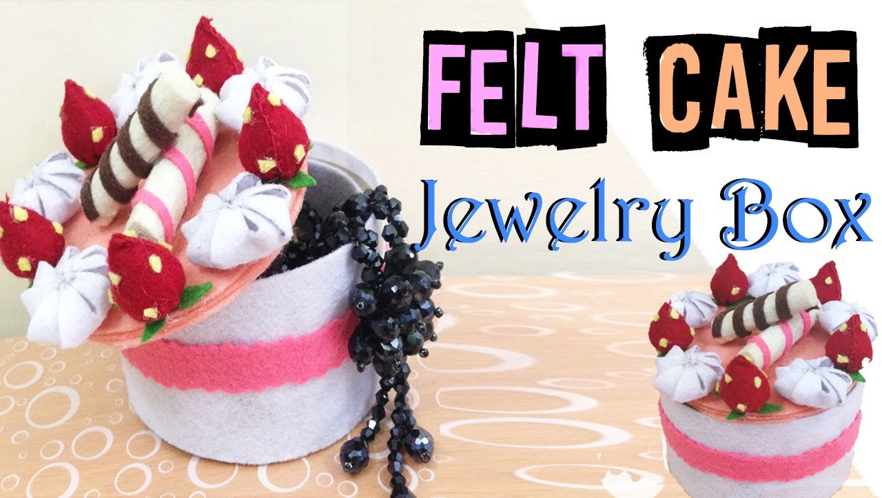 DIY Rom Decor:  Felt Cake Box for Jewelry - Octoboo DIY