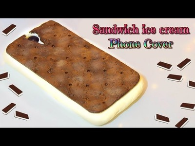 DIY Sandwich ice cream phone cover - kawaii case silicone tutorial - Isa ❤️