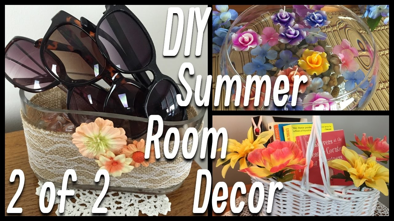 DIY Summer Room Decor | Flower Garland, Floating Flowers, Potpourri Holder - PART 2