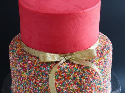 Easy 2 Tier Sprinkles Cake Tutorial