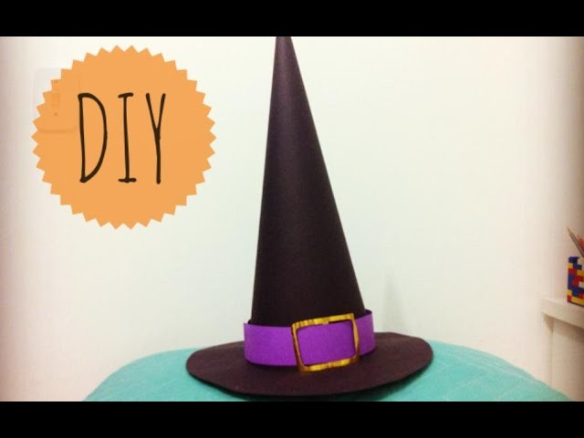 Halloween - Como fazer: chapéu de bruxa DIY - Witch's Hat