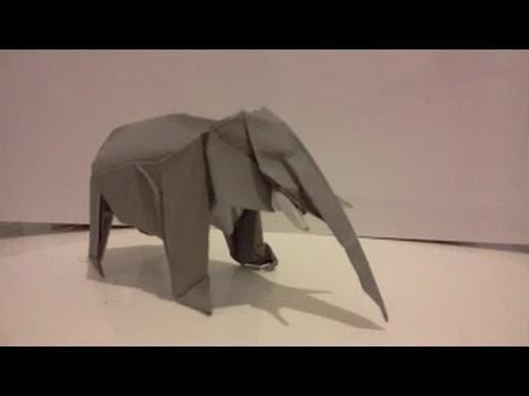 Hand Made Art Tutorial In Origami Elephant Satoshi Kamiya Part 7