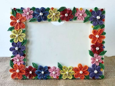 How To Create A Colorful Floral Photo Frame - DIY Crafts Tutorial - Guidecentral