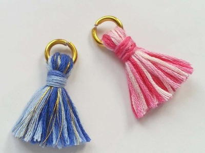 How To Create Cute Tassel Jewelry Charms - DIY Crafts Tutorial - Guidecentral