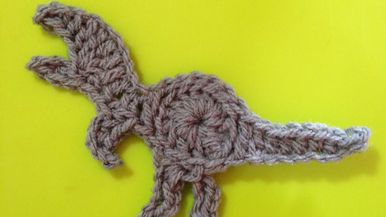 How To Crochet A Dino T-Rex Applique For Your Kid - DIY Crafts Tutorial - Guidecentral