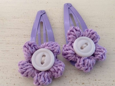How To Crochet Flower Hair Clips - DIY Style Tutorial - Guidecentral