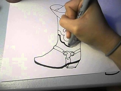 How to draw a Boot and Hat