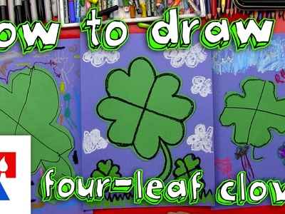 How To Draw A Four-Leaf Clover (young artists)