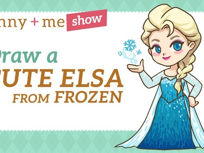 How to draw Elsa - Easy Drawing Tutorial from Frozen